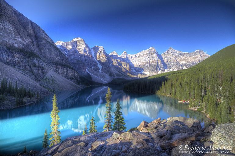 Alberta morraine lake hdr