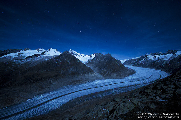 Aletsch glacier night 35