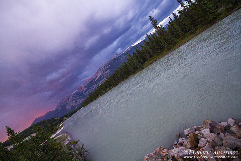 Jasper river sunset