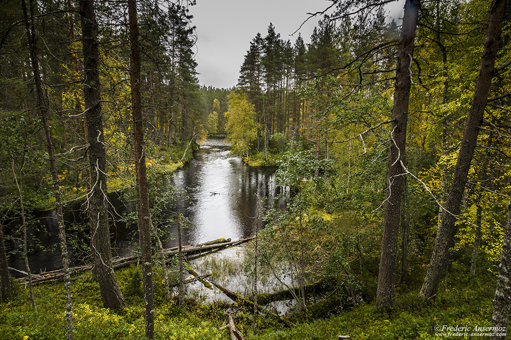 River in Hossa National Park, Finland