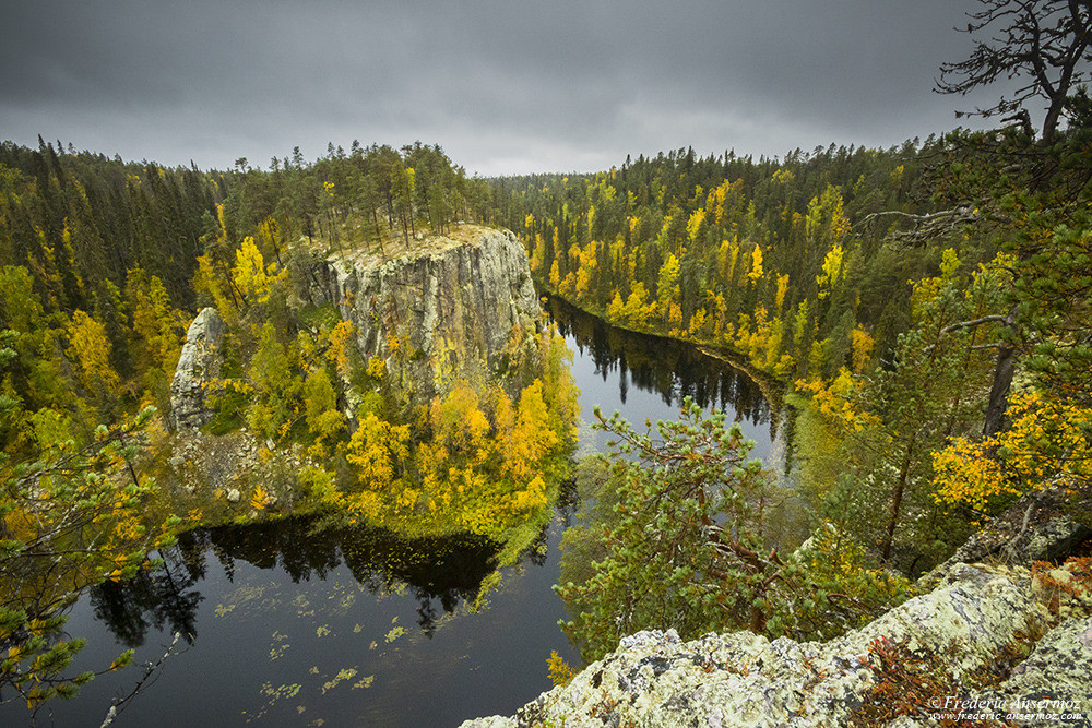 Ristikallio and the Aventojoki river, Oulanka National Park