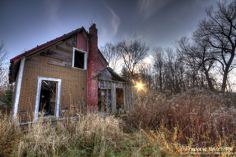 Abandoned house sunset hdr