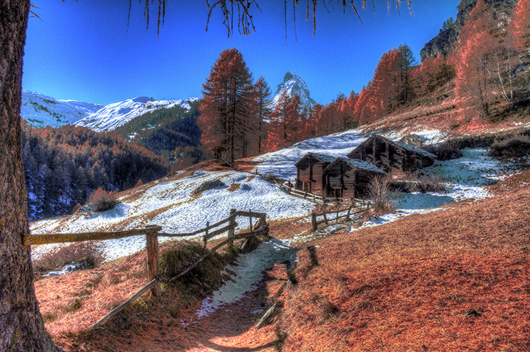 Switzerland matterhorn hdr