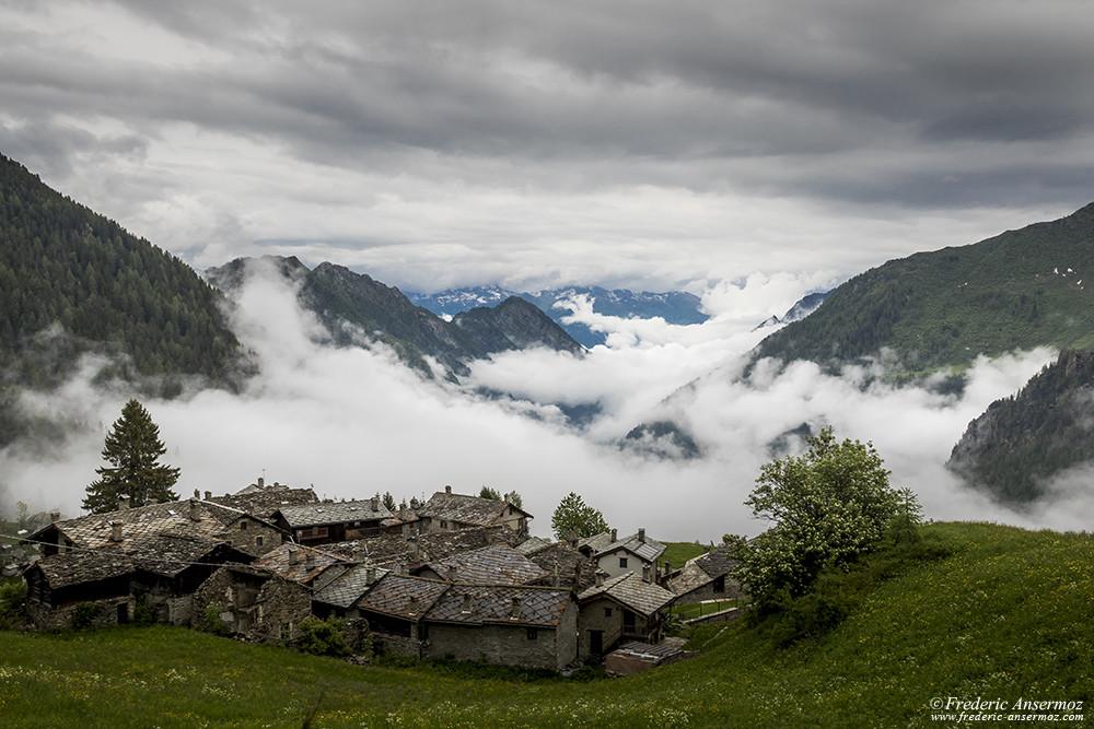 Grand Mont Blanc village, Aosta Valley, Italy