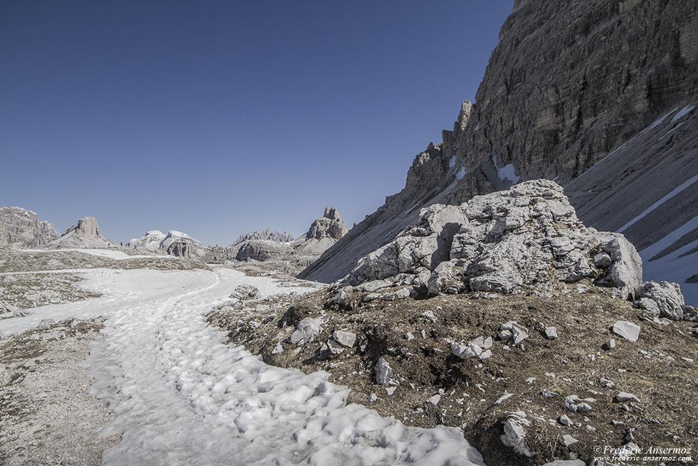 Randonnée dans les Alpes italiennes, Tre Cime, sentier