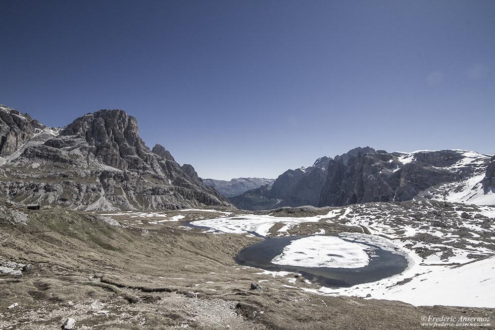 Laghi del Piani au Tre Cime di Lavaredo, Italie