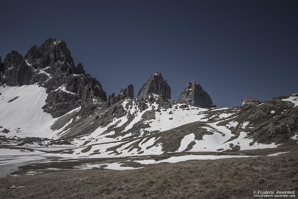 Mont Paterno, Tre Cime di Lavaredo, Refuge Antonio Locatelli