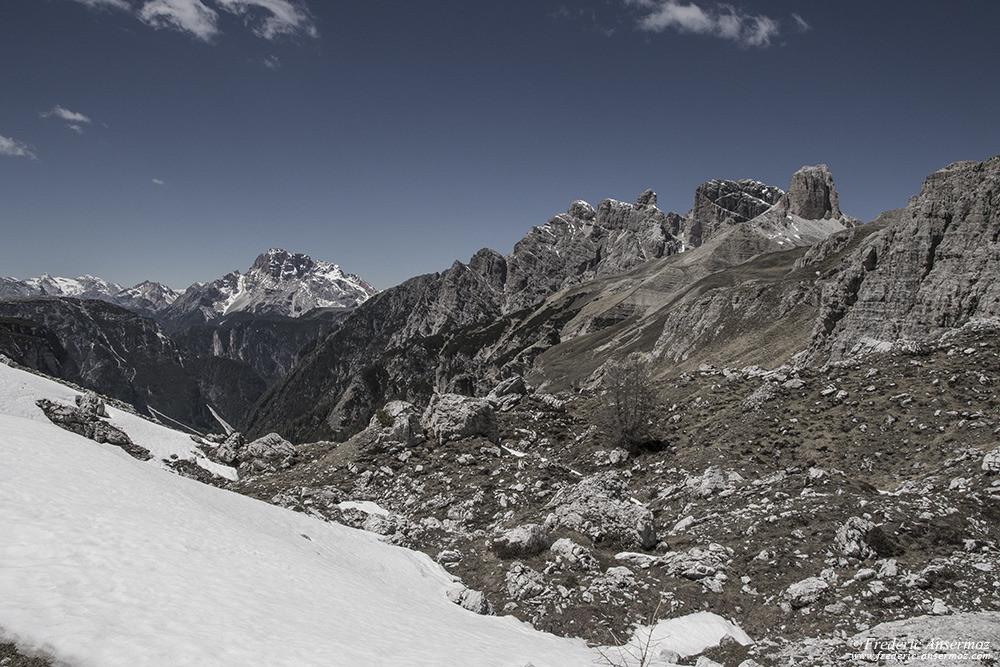 Paysage de montagne dans les Alpes italiennes, Dolomites