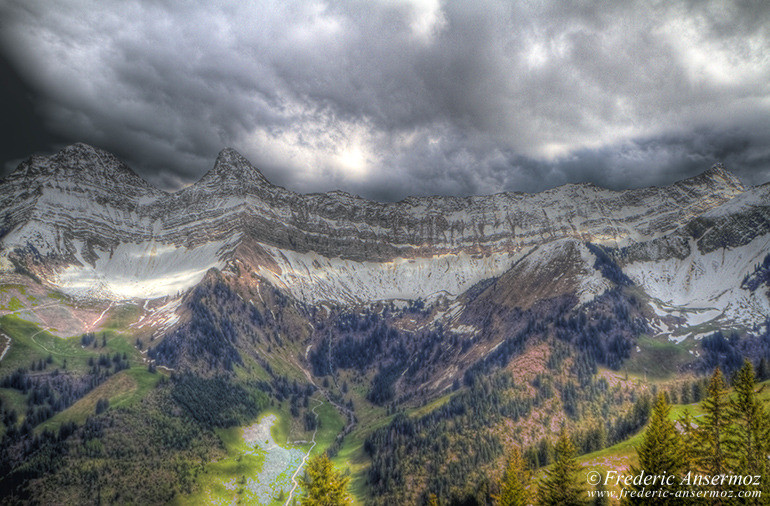 Swiss mountains hdr