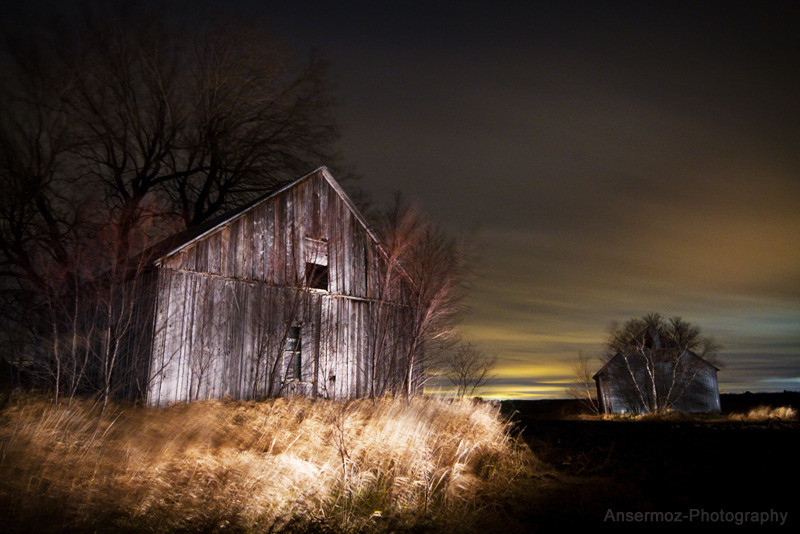 Lightpainting photography La Grange from Ansermoz Photography