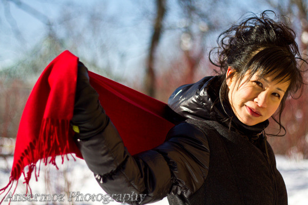Minna re shin portrait in Jean Drapeau Park in Montreal