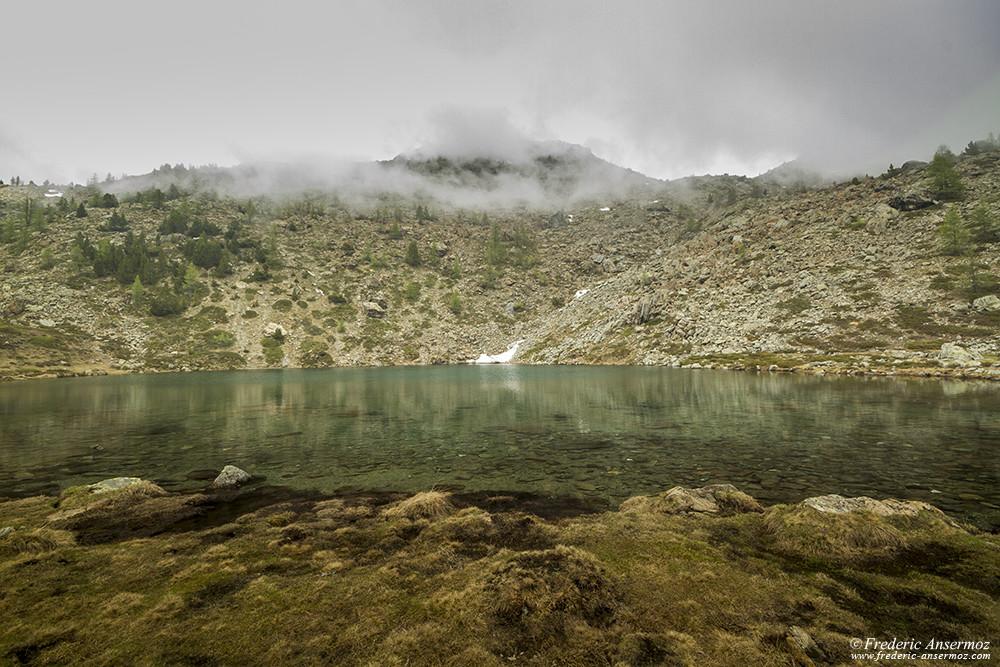 Lac Lago Muffè au Mont Avic, Italie