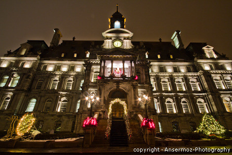 Montreal City Hall by night photography