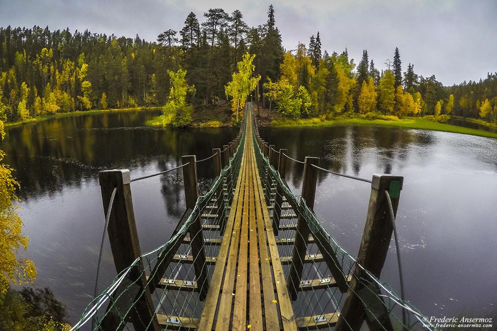Harrisuvanto bridge, Oulanka, Kuusamo, Finland