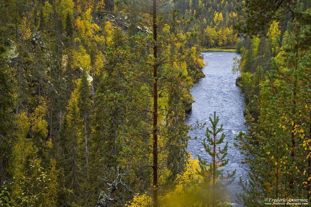 River Kitkajoki near Heinäniemi, Oulanka National Park