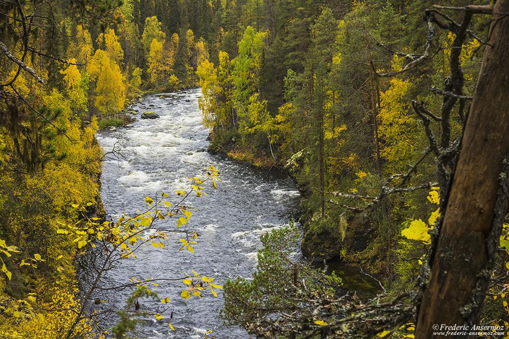 Aallokkokoski rapids on River Kitkajoki, Oulanka, Finland