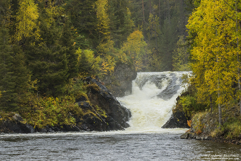Jyrävä waterfall on River Kitkajoki, Oulanka National Park