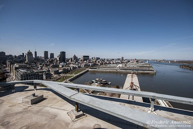 Vieux Port de Montréal vu du toit du silo 5