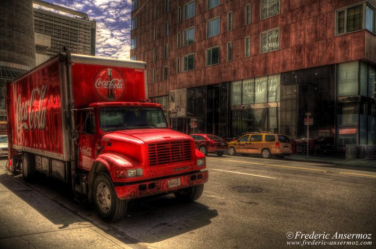 Coca cola truck hdr