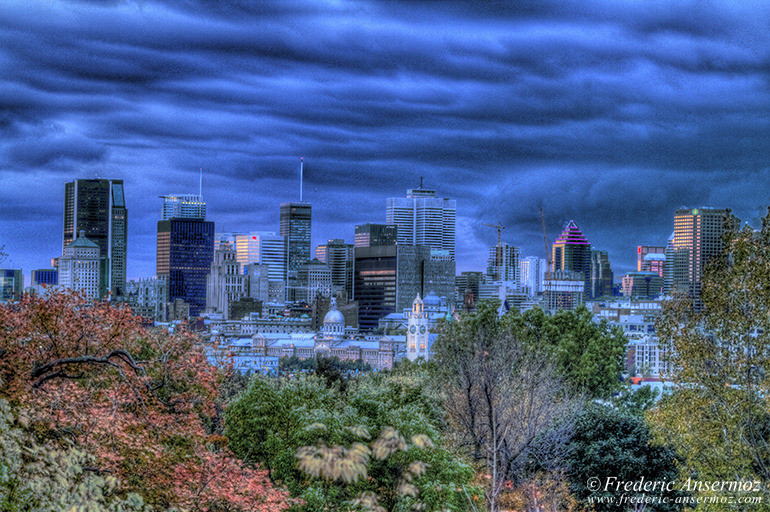 Montreal skyline downtown hdr