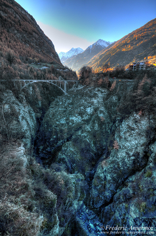 Mountain bridge hdr
