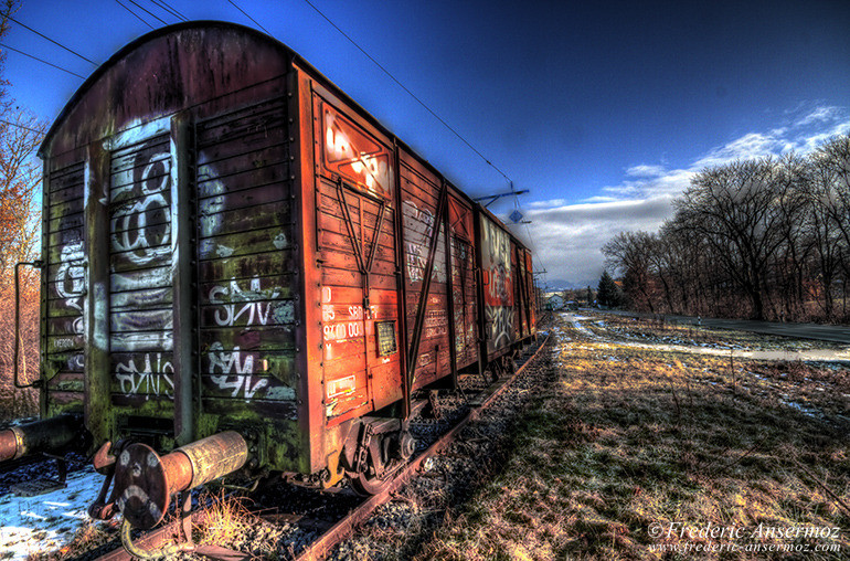 Train wagon hdr