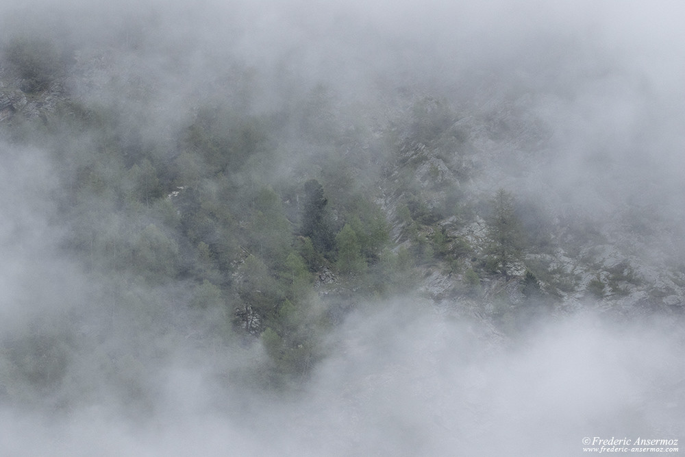 Mountain in the clouds, Gran Paradisio, Italy