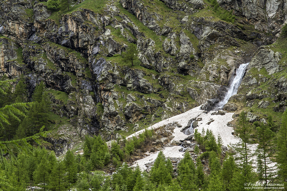 Incredible scenery in Italy at the Gran Paradisio National Park, Val de Cogne area
